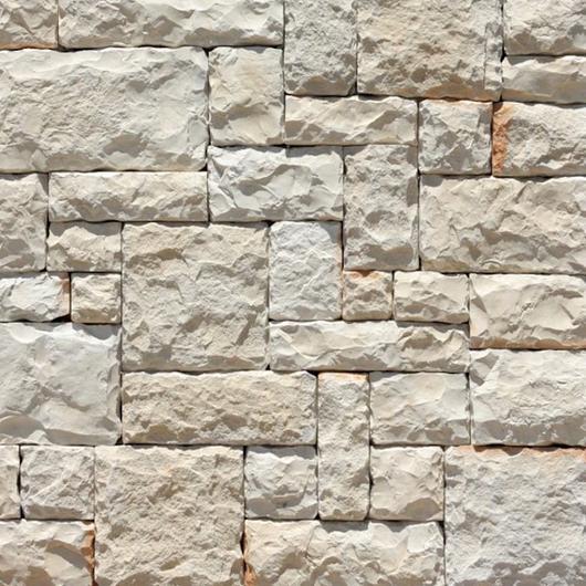 Revestimiento de piedra fabricada - Adoquín Blanco / Metaldesign