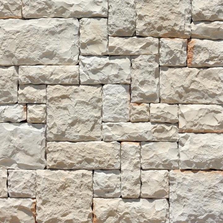 Revestimiento de piedra fabricada - Adoquín Blanco