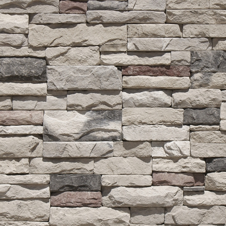 Revestimiento de piedra fabricada - Apilable Gris