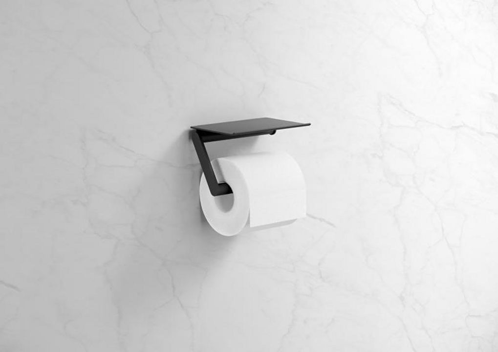 Toilet Roll Holder - With Shelf