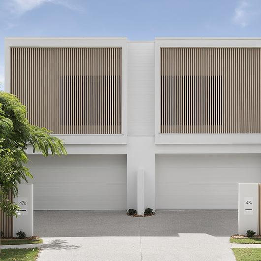 DecoBatten on Coastal Duplex Design / DECO Australia