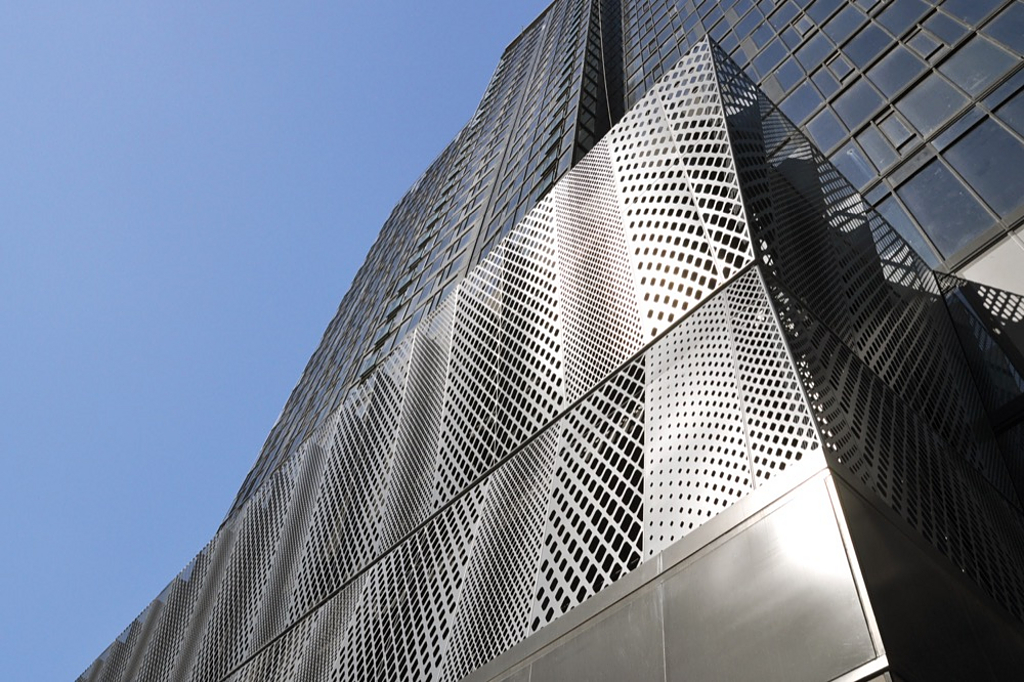 EnFold Facade Garage Screens: 801 Olive