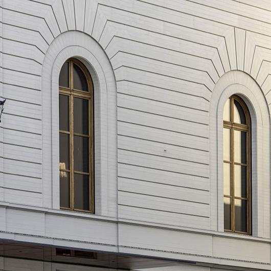Timber Cladding on Stadtcasino Basel Extension / Accoya