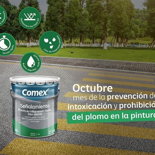 Octubre, mes de la prevención y prohibición del plomo en la pintura / Comex