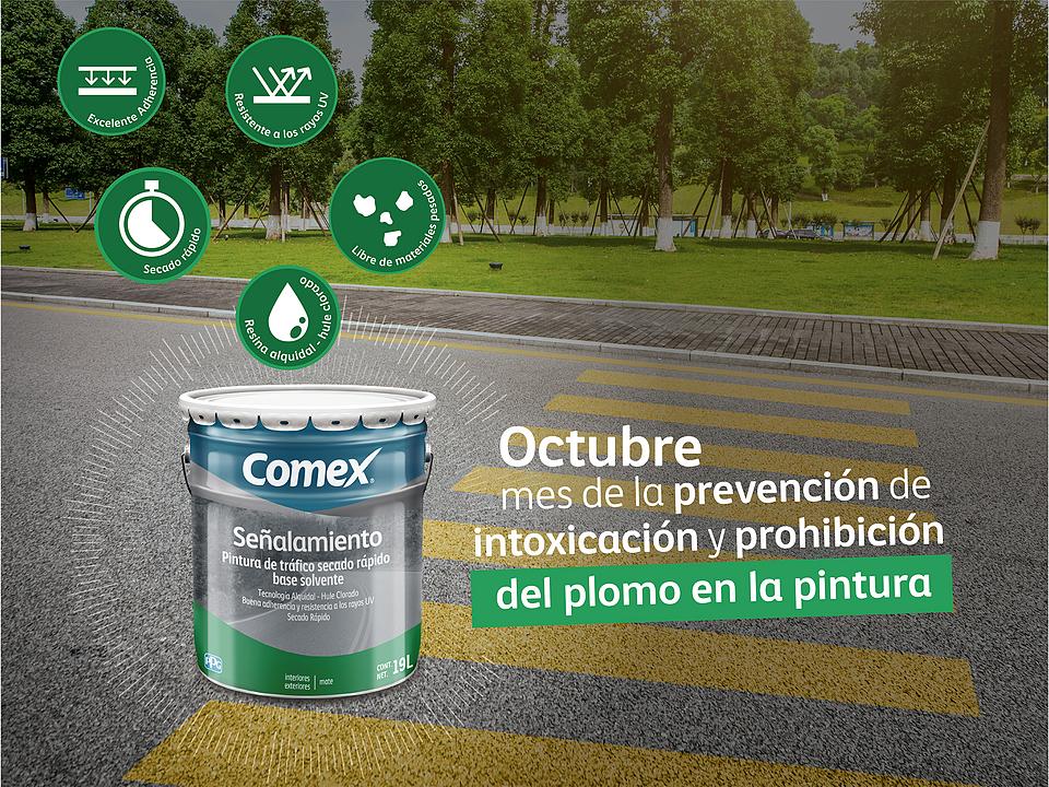 Octubre, mes de la prevención y prohibición del plomo en la pintura