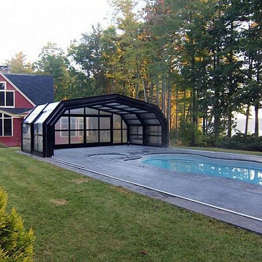 Retractable Pool Enclosure in Maine Home