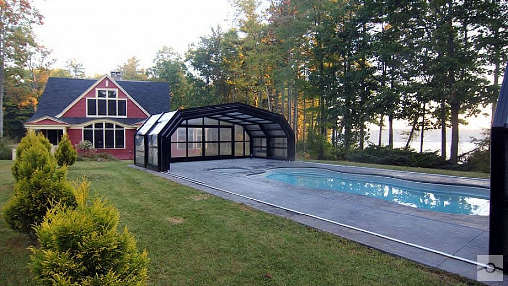 Retractable Pool Enclosure in Maine Home