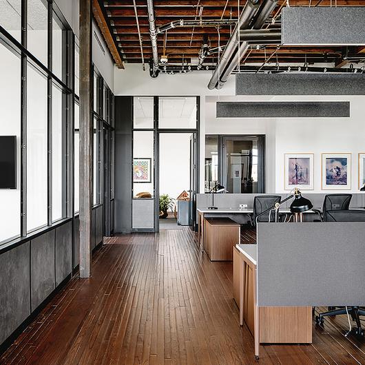 Cyber Slate Cladding in Penrose Office / Pure + FreeForm