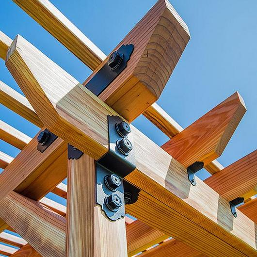 Conectores arquitectónicos para estructuras de madera