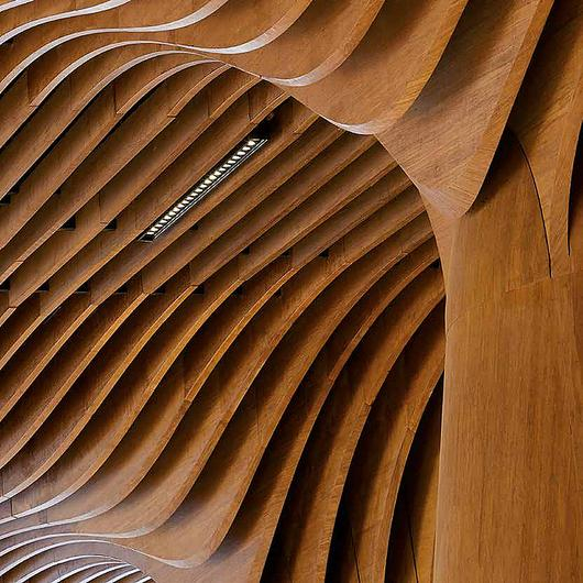 Revestimiento interior de bambú - Tableros Macizos de Bambú Moso / Hunter Douglas