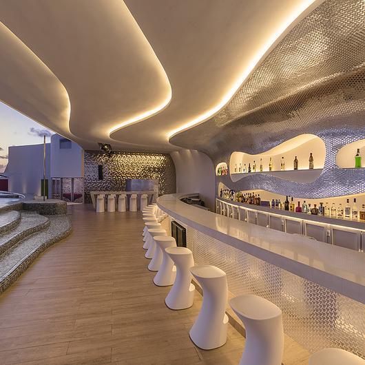 Porcelánico Royalwood Out - Sky Lounge / Firenze