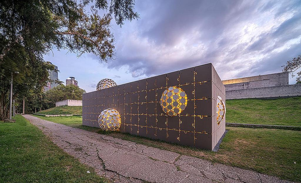 Painel de fibrocimento Equitone na Design Week México 2020