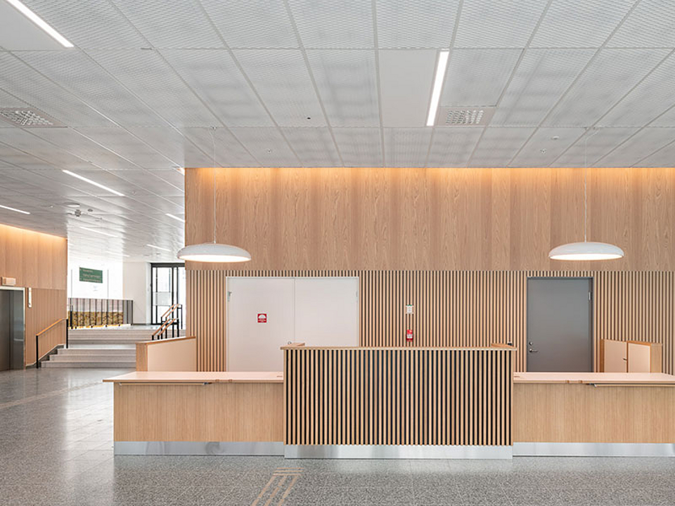 Wood Cladding in St. Erik Eye Hospital