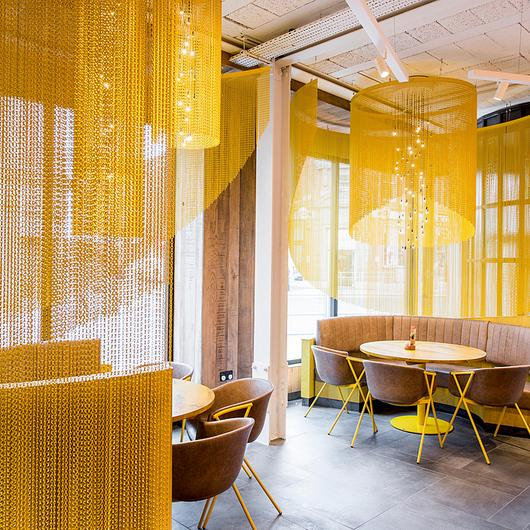 Metal Fabric - Curved Space Dividers