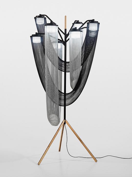 Metal Fabric Floor Lamp – Aura Collection