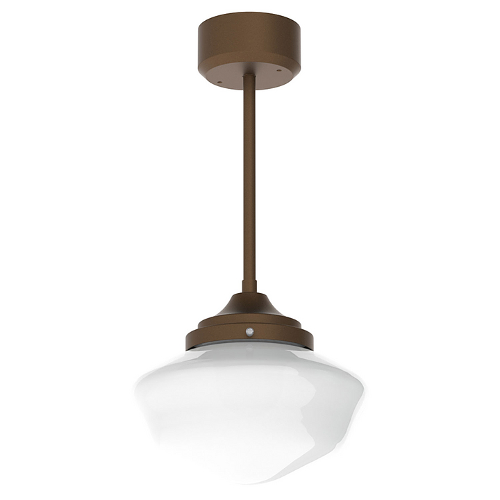 Glass Pendant Light - School House Shade