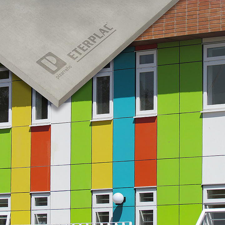 Panel de fibrocemento para fachadas - Eterplac