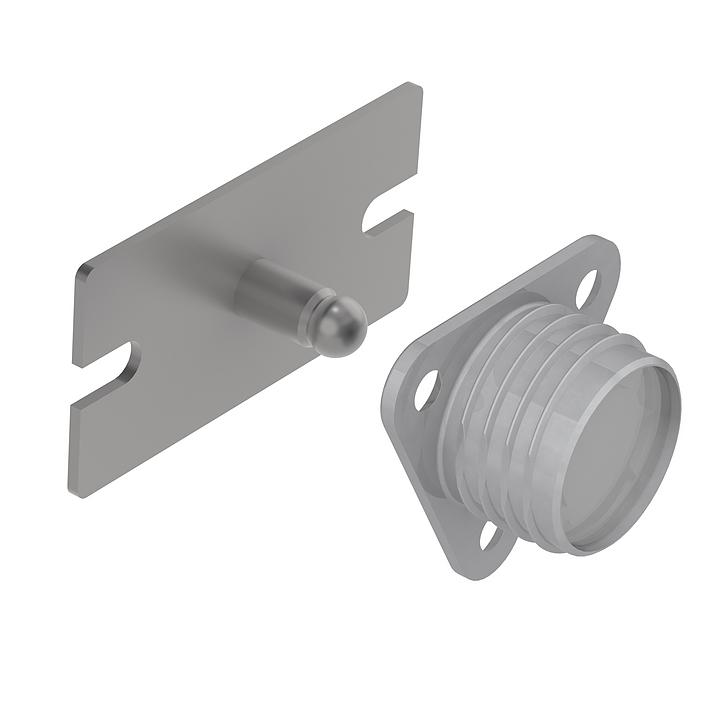 Sujetador de panel de alta resistencia -  Gama metal de fijación en superficie