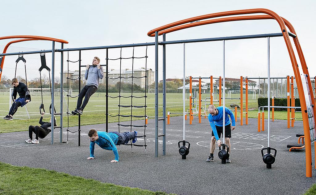 Impacto de las zonas de ejercicio en el espacio público