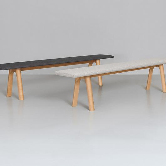 Wooden Bench - Rail Bench