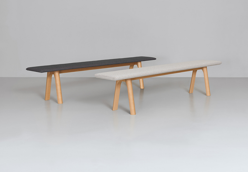Wooden Bench - Rail Bench