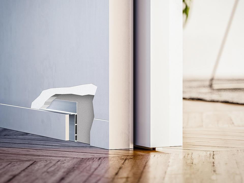 Flush Skirting - ECLISSE Syntesis® Baseboard