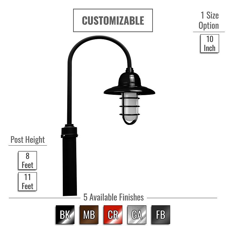 Lighting - Pottery LED Post Light