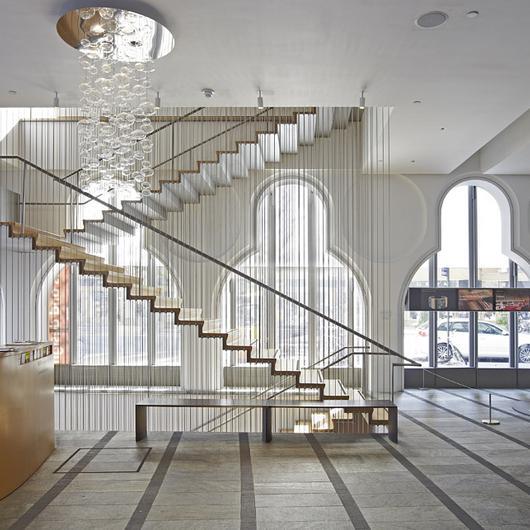 Baranda de acero en Museo de Arte y Diseño de NY