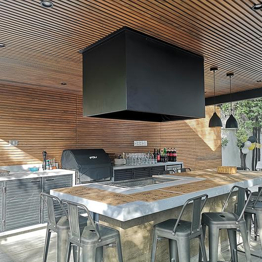 Revestimiento interior de madera termotratada  - Diseño efecto listón / Topwood
