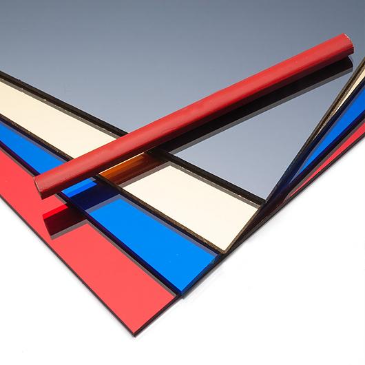 Vidrios espejo de color