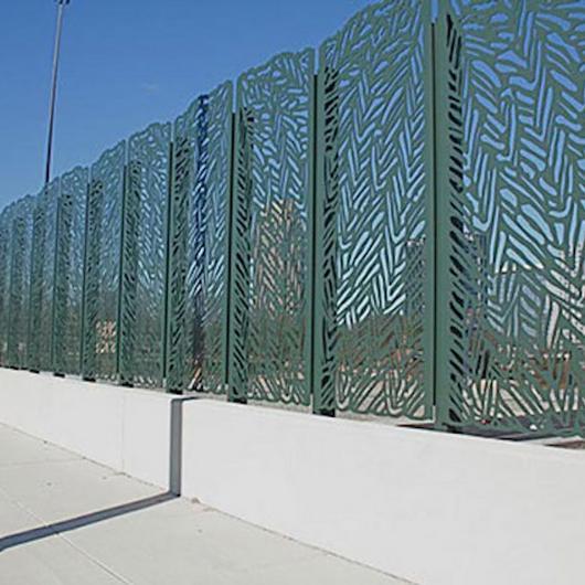 Aluminum Panels - Decorative Fencing for Bridges / American Metalcraft