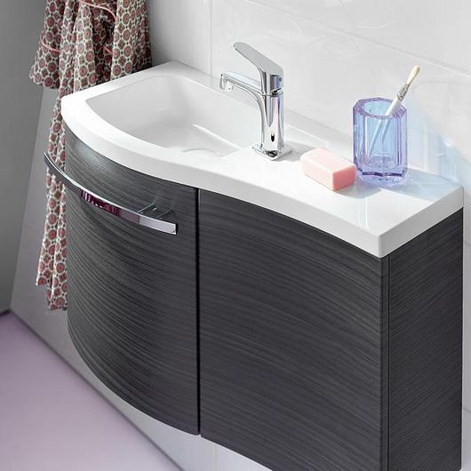 Mineral-Cast Washbasin and Vanity - Sinea