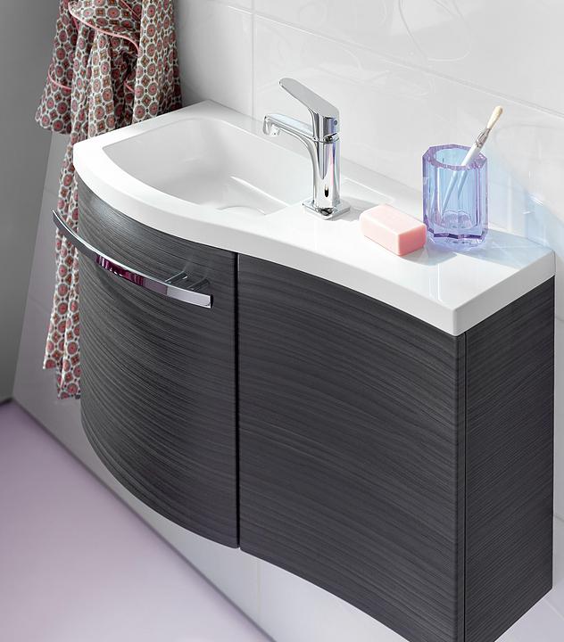 Mineral-Cast Washbasin and Vanity - Sinea
