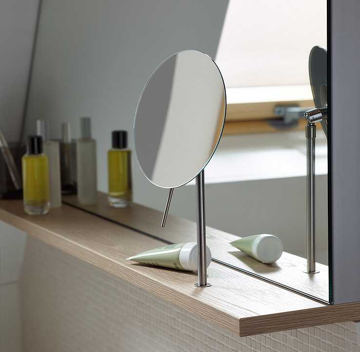 Wall Rack and Magnifying Mirror - Sys30