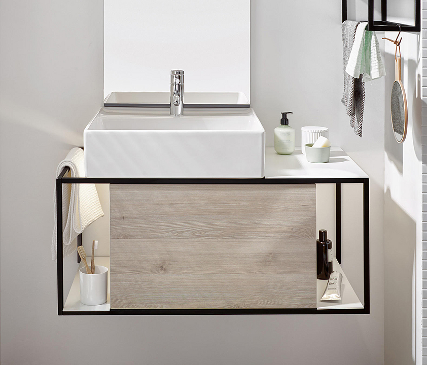 Ceramic Washbasin and Vanity - Junit