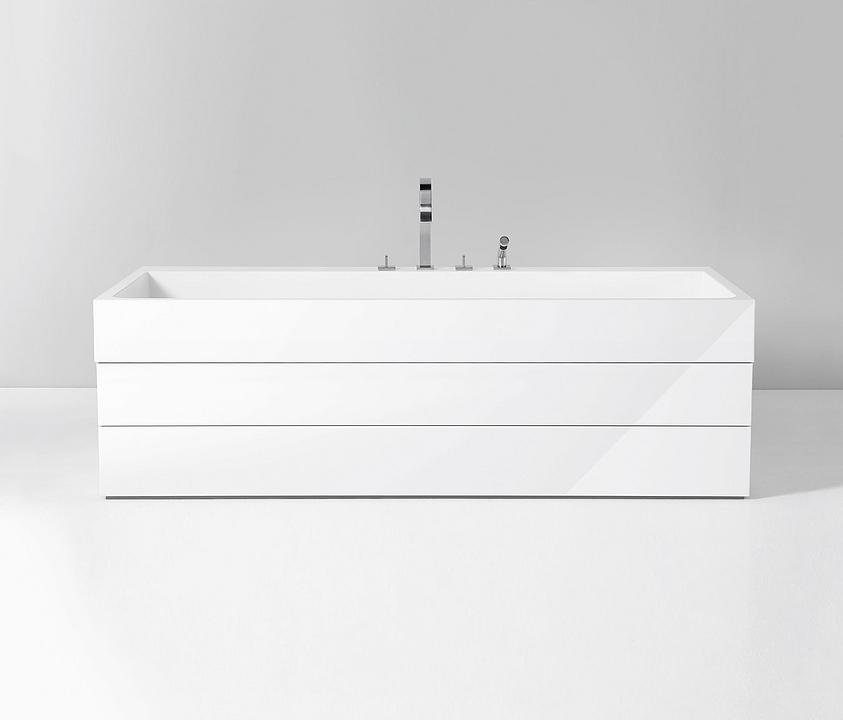 Mineral-Cast Rectangular Bath - Crono