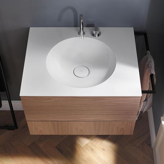 Mineral-Cast Washbasin and Vanity - Coco / burgbad