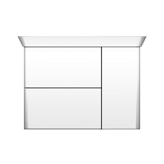 Mineral-Cast Washbasin and Vanity - Iveo