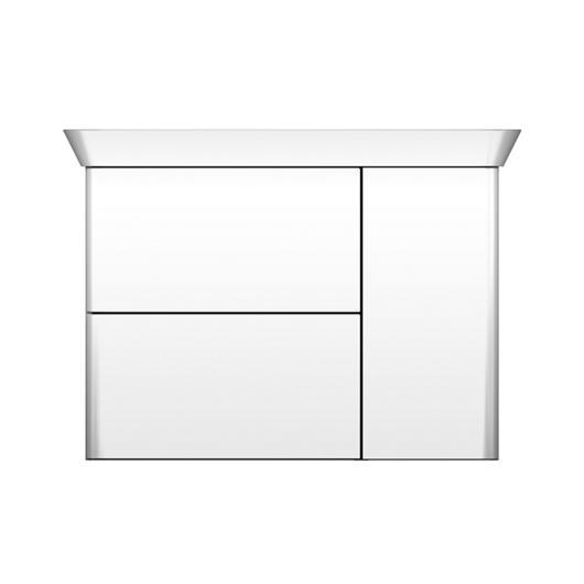 Mineral-Cast Washbasin and Vanity - Iveo / burgbad