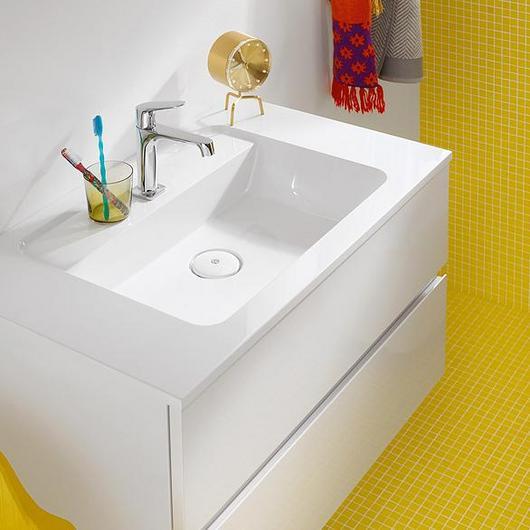 Mineral-Cast Washbasin and Vanity - Bel / burgbad
