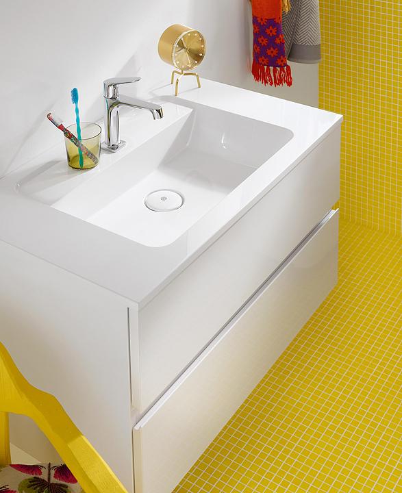 Mineral-Cast Washbasin and Vanity - Bel