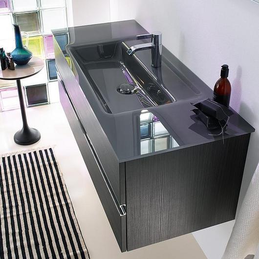 Glass Washbasin and Vanity - Bel / burgbad
