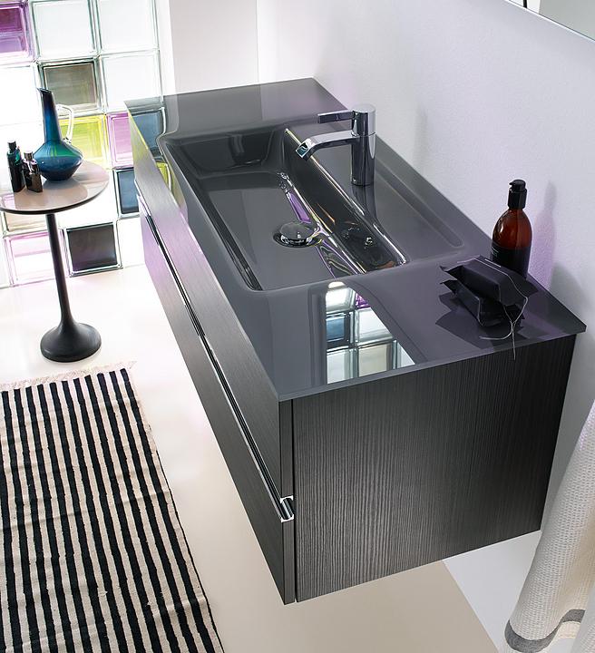 Glass Washbasin and Vanity - Bel