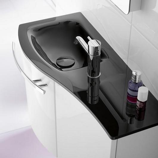 Glass Washbasin and Vanity - Sinea / burgbad