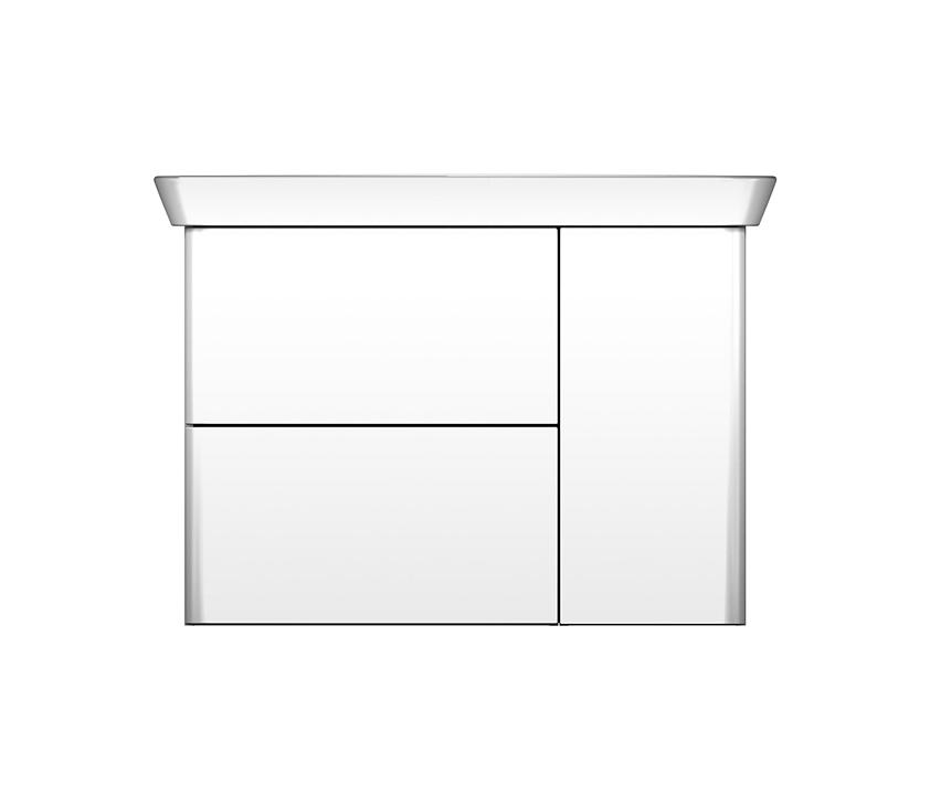 Ceramic Washbasin and Vanity - Iveo