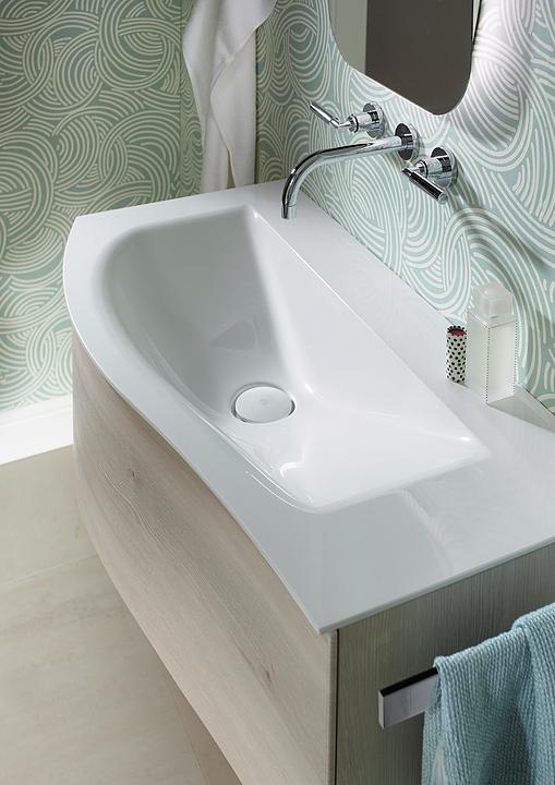 Mineral-Cast Washbasin and Vanity - Sinea 2.0