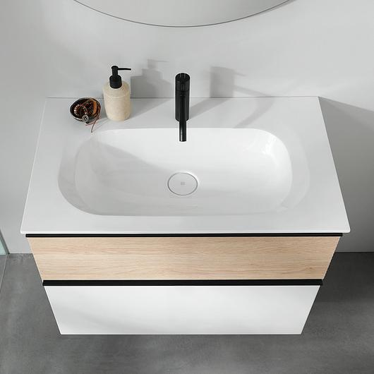 Mineral-Cast Washbasin and Vanity - Fiumo / burgbad