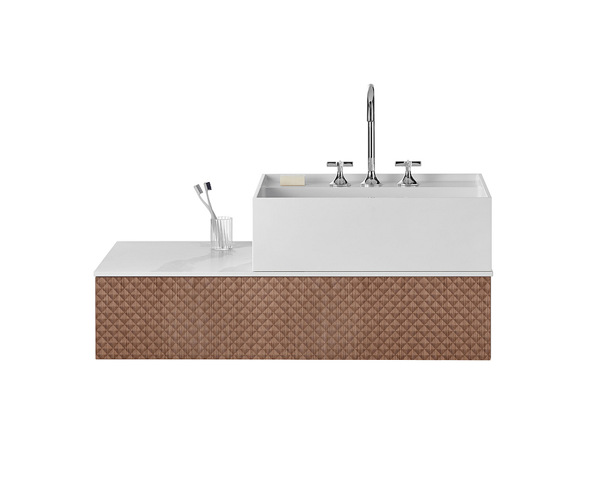 Mineral-Cast Washbasin and Vanity - rc40