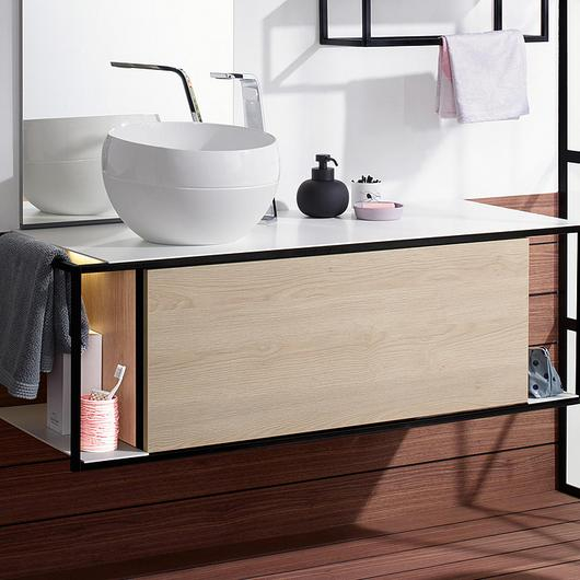 Mineral-Cast Washbasin and Vanity - Junit