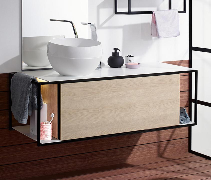 Mineral-Cast Washbasin and Vanity - Junit